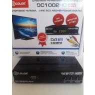 Приставка для цифрового ТВ D-Color DC1002HD mini черный