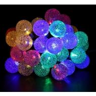 Гирлянда шарики с кристаллами CADENA, 20 LED, 3 метра, на батарейках, 1904