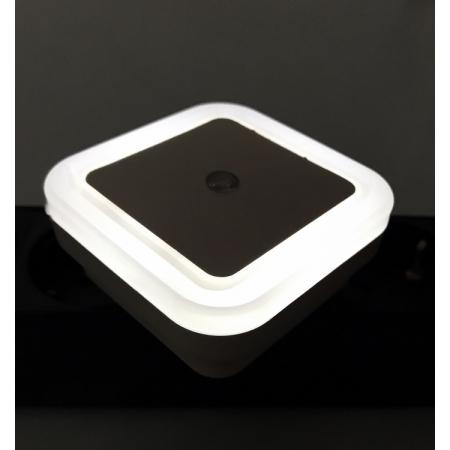 Ночник светодиодный CADENA Квадрат с датчиком освещенности, белый, Ledsquare