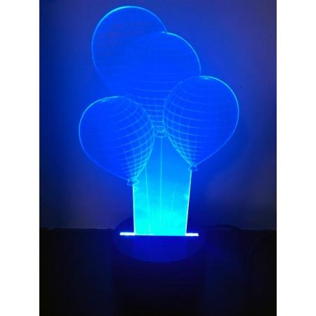Ночник светодиодный голограмма CADENA Воздушные шарики, 3 цвета, 3DAirballons