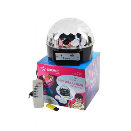Диско-светильник КОСМОС KOCNL-EL145_music музыкальный, в комплекте пульт+флеш-карта, Bluetooth