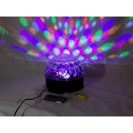 Светодиодный светильник Crystal Magic Ball Light с флешкой и пультом