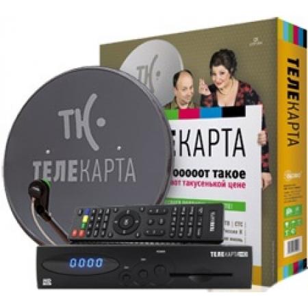 Комплект Телекарта с ресивером EVO 07 с монтажом, ант. 0,6 Supral
