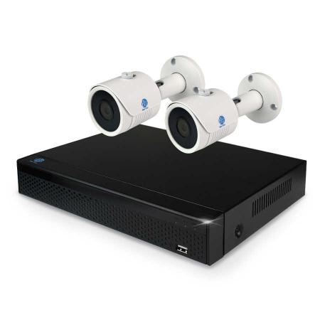 Комплект видеонаблюдения BarTon 1080P AHD/TVI/CVI 2.2 на 2 камеры